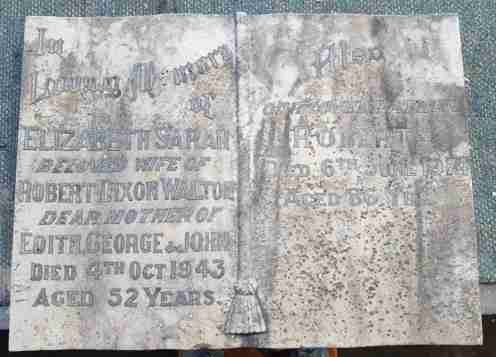 Old marble book with lead lettering
